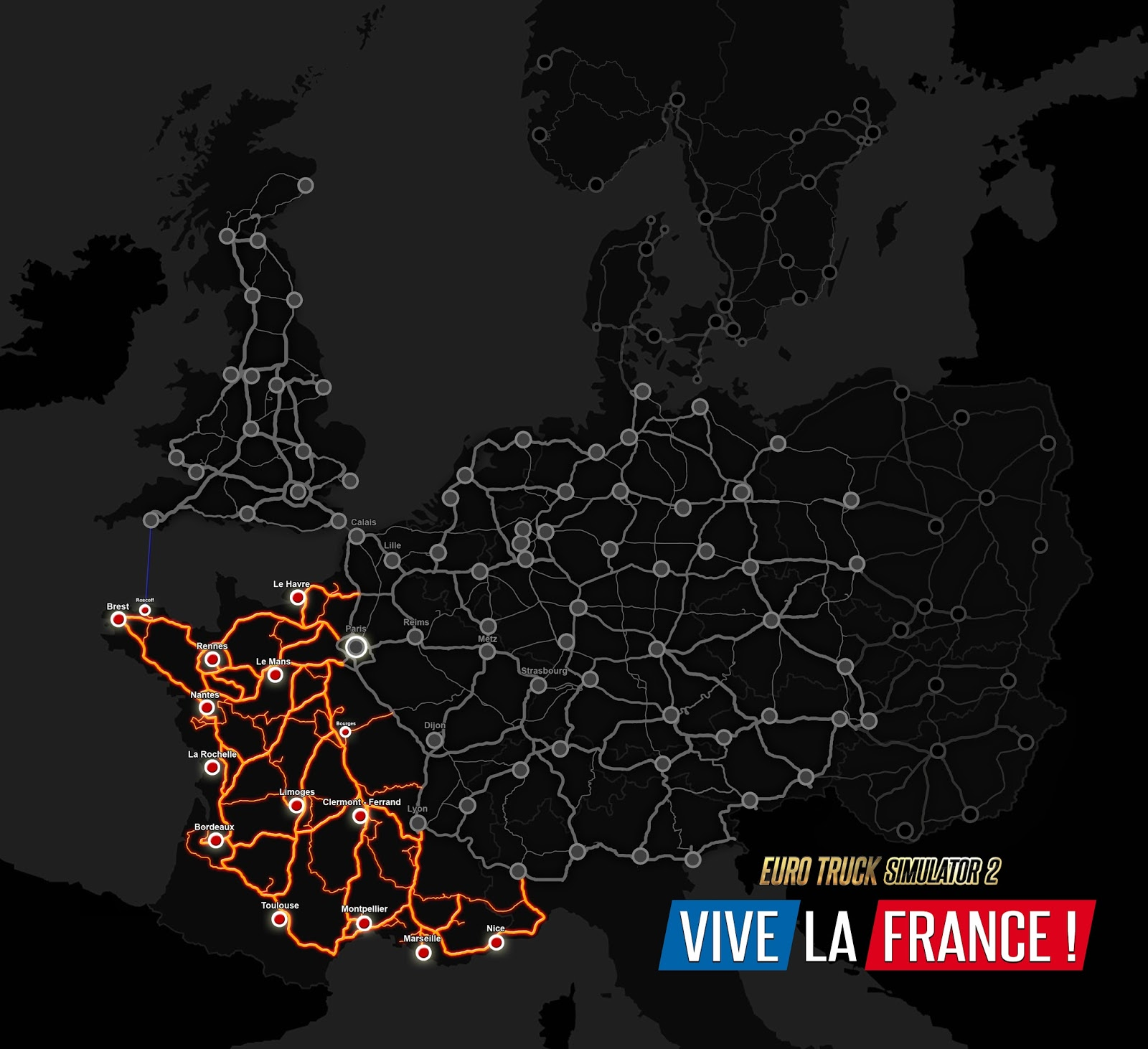 La France Map.Scs Software S Blog The Roads Of Vive La France