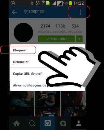 Denunciar um Usuário do Instagram