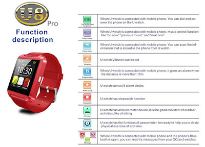 U Watch U8 Pro Smartwatch Bluetooth Life Waterproof