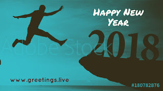 Jumping to new year 2018 Greetings