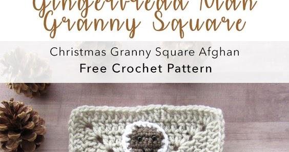 Week 5 Christmas Granny Afghan Cal Gingerbread Man Applique Free