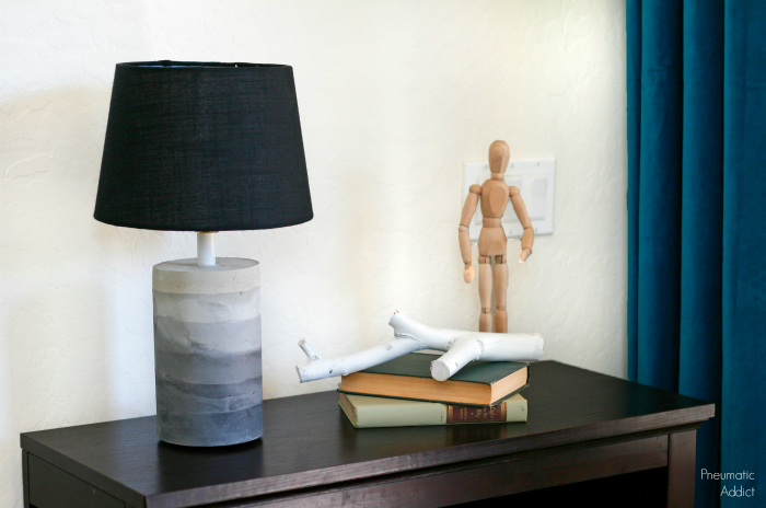 ombre concrete table lamp tutorial
