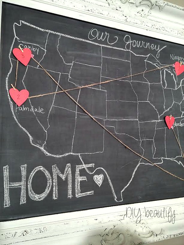 Chalkboard Map at DIY beautify
