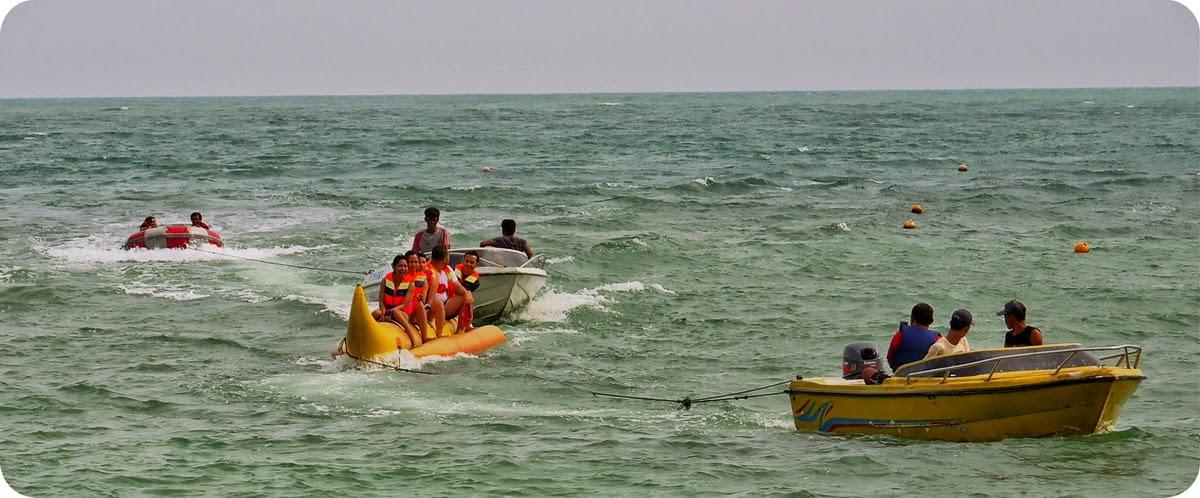 Banana Boat di Tanjung Lesung