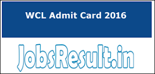 WCL Admit Card 2016