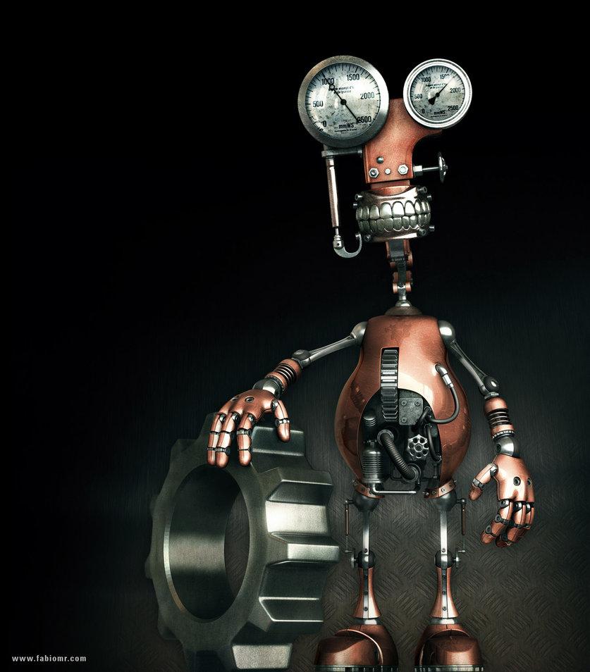 Картинка смешного робота