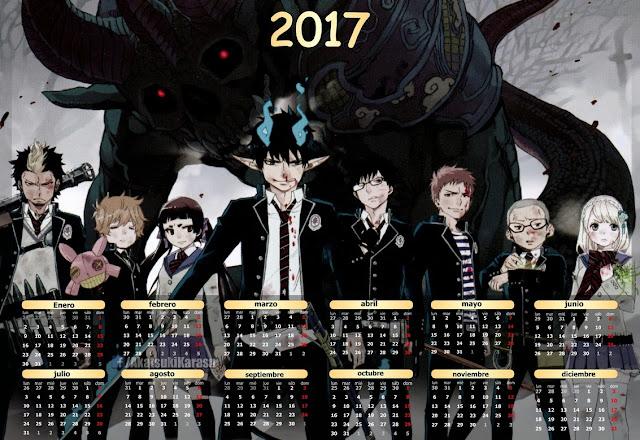 calendario 2017 ao no exorcist