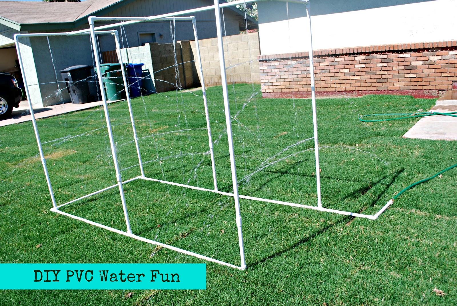 DIY PVC Backyard Water Park - Classy Clutter