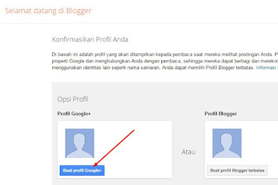 konfirmasi profil blogger