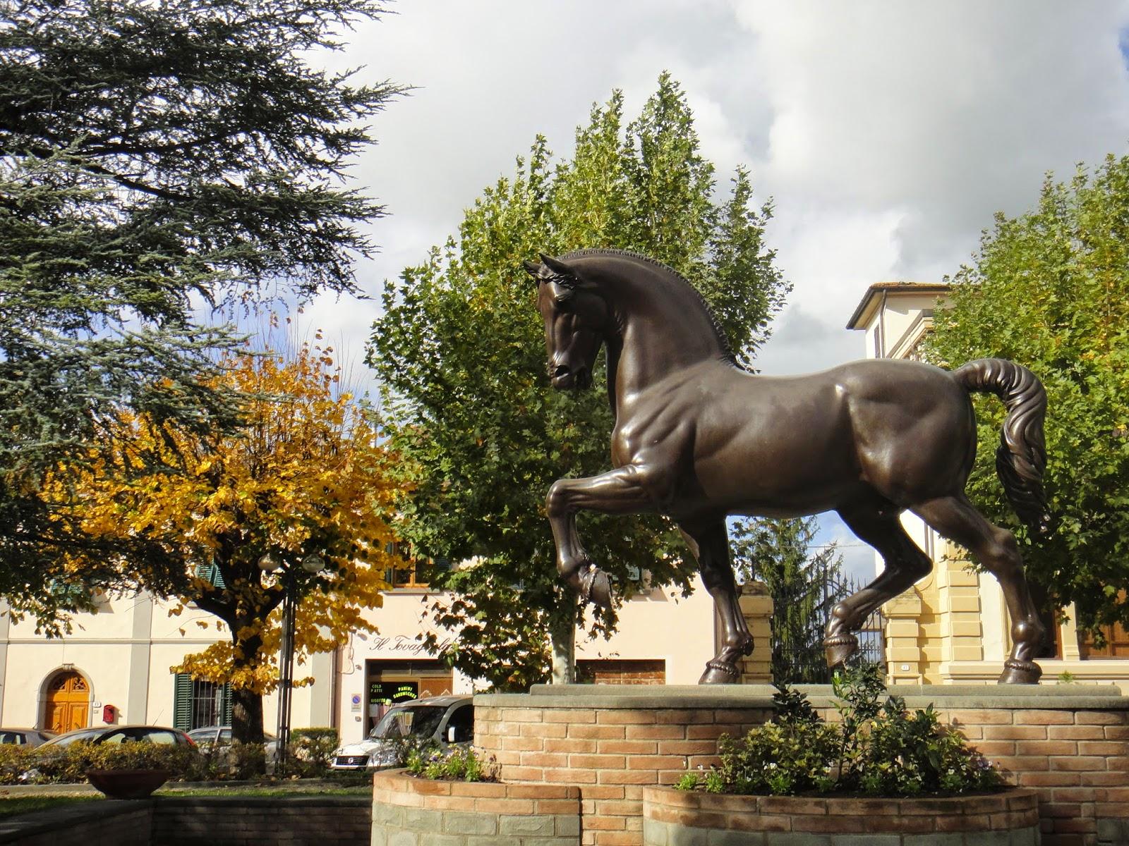 réplica do cavalo em Vinci