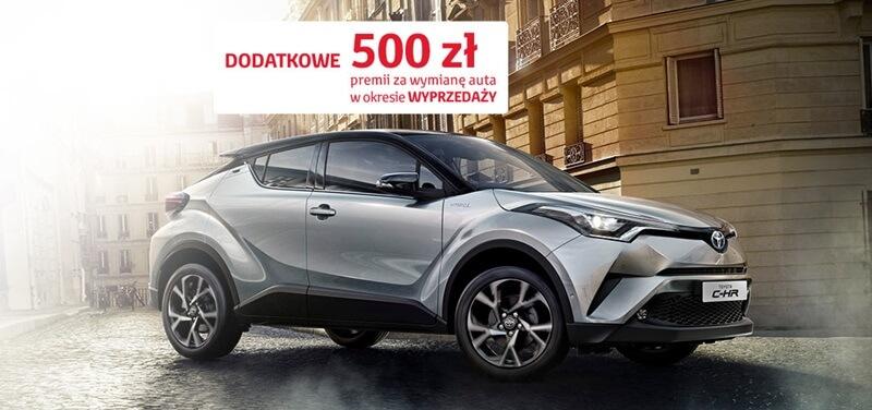 Nawet 1000 zł premii od Toyota Bank z okazji Wyprzedaży rocznika 2017 w Toyocie