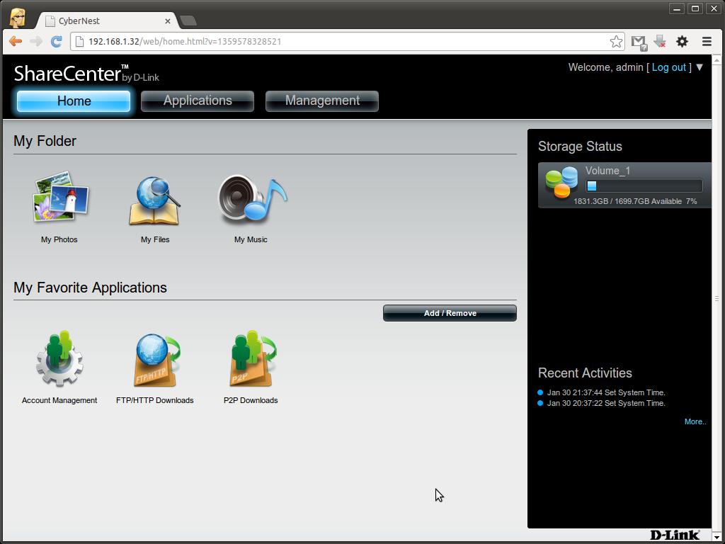 d link dns 320l firmware version
