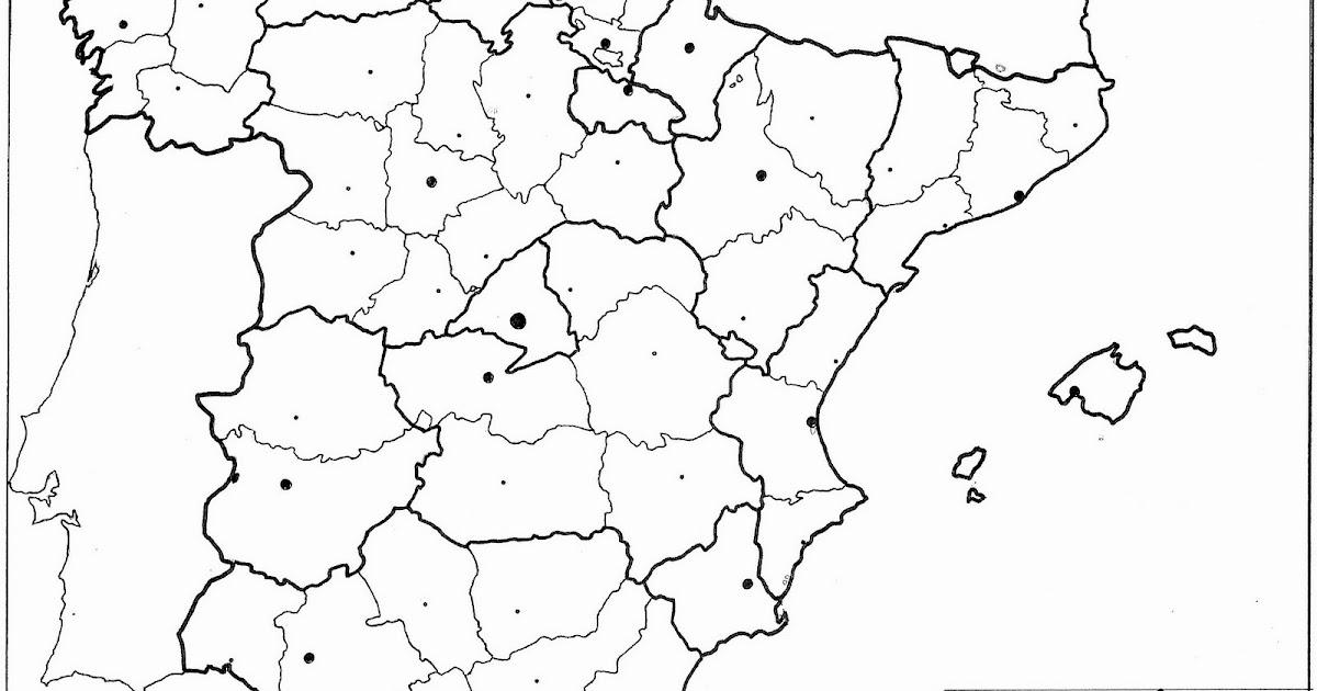 Mapa Mudo Provincias España Tamaño Folio.Quinto De La Campina Mapa Politico Mudo De Espana