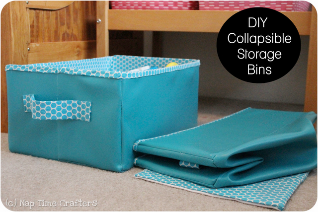 Cute Animal Collapsible Toy Storage Organizer Folding: Someday Crafts: DIY Collapsible Storage Bins