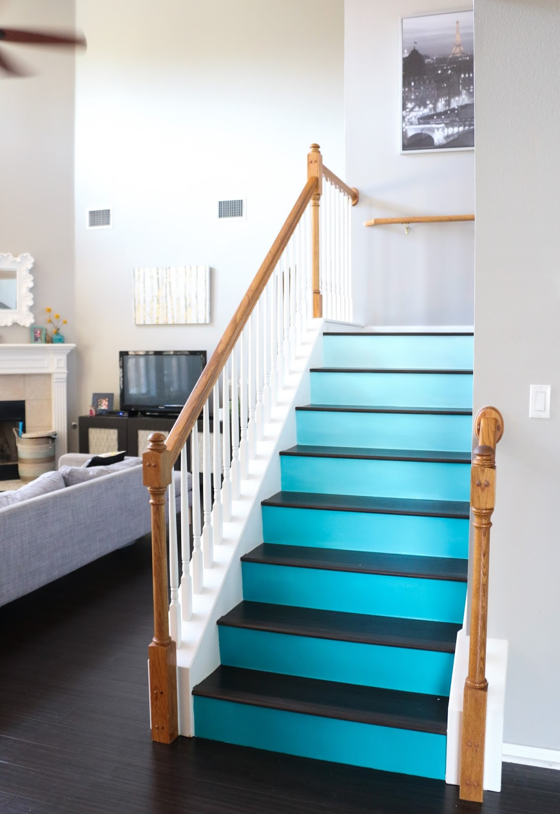 Paint It Ombre Stairs A Kailo Chic Life