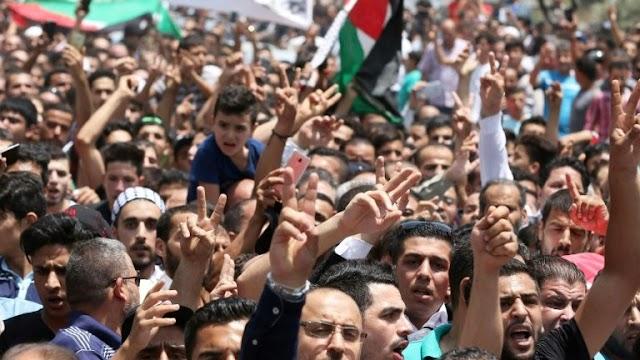 Jordanianos gritam Morte a Israel