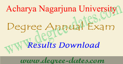 ANU degree results 2018 Acharya Nagarjuna university ug result date