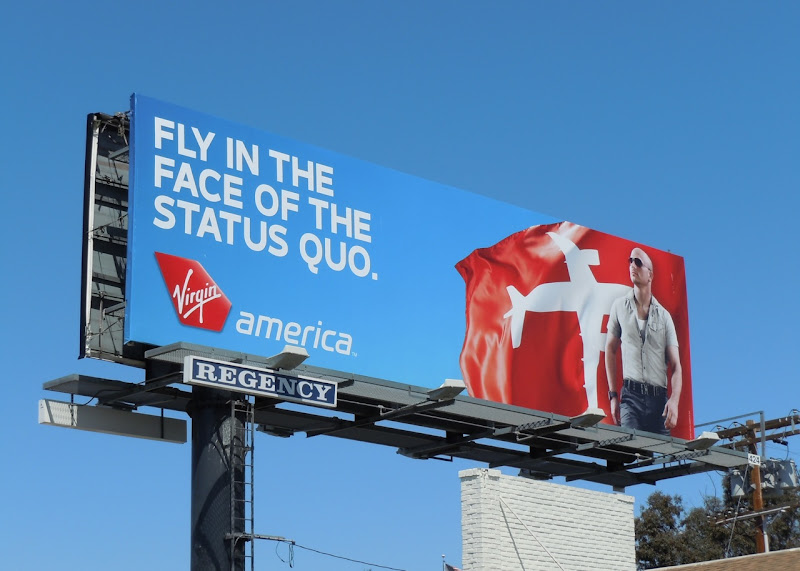 Virgin America status quo male model billboard