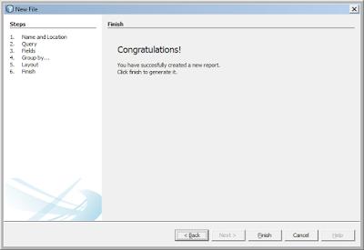 Kelas Informatika - Konfigurasi Report Wizard Java Berhasil