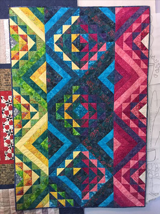 Mosaic Stripe Quilt Free Pattern
