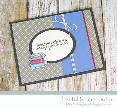 Page Turner card-designed by Lori Tecler/Inking Aloud-stamps and dies from SugarPea Designs