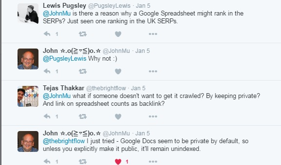 Do Google Spreadsheets Rank in Search Results? | SEO in Short by ...