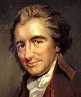 cropped Thomas Paine (1737 – 1809) oil painting by Auguste Millière (1880)