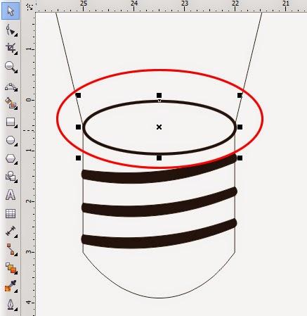Fungsi Interactive mesh Fill Tool di coreldraw