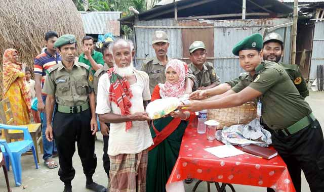 Eid content distributed among Ansar-VDP floods in Kurigram