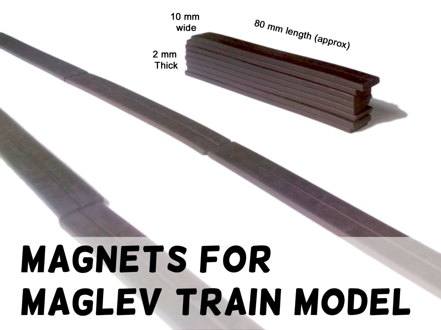A4 Art & Craft Magnet Sheet India: Maglev Train Project - Magnets