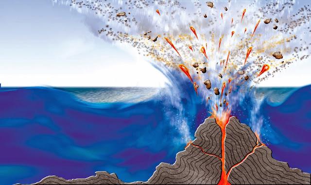 Ditemukan Gunung Api Raksasa di Bawah Laut Sumatera, Ini Kata LIPI