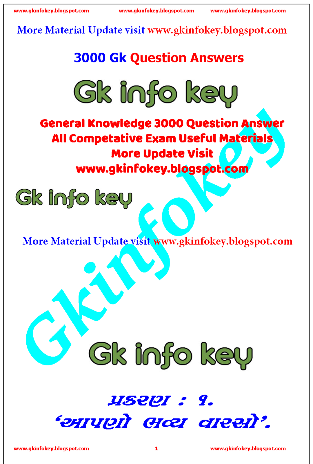 General Knowledge 3000+ Question Answer Useful for all Exam || Most