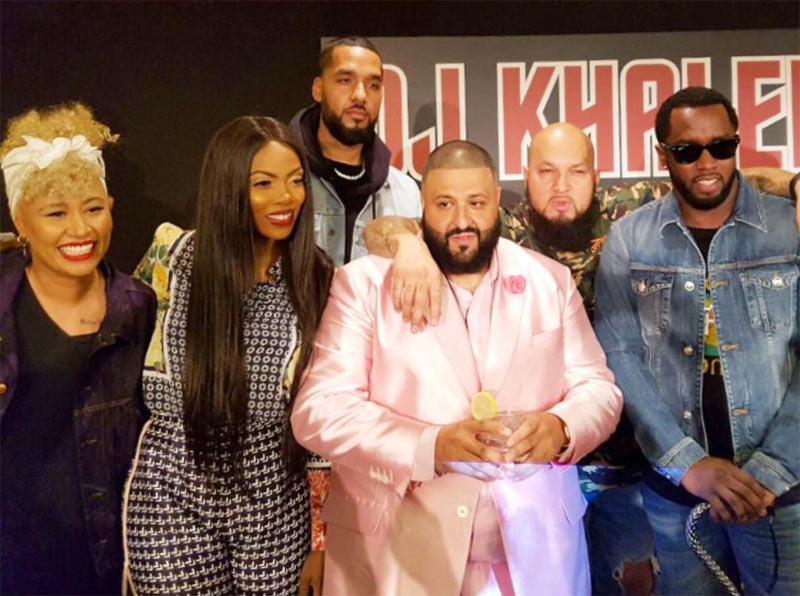 Tiwa Savage pictured with P. Diddy, DJ Khaled, others