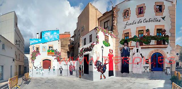 Mural trampantojo de festa major de Cubelles