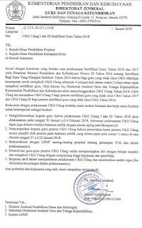 Jadwal UKG Ulang I dan III Sertifikasi Guru Tahun 2018