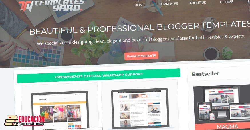 plantillas blogger profesionales gratis templatesyard