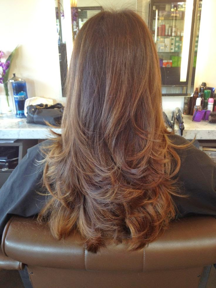 Long layered hair cut...My hair is SLOWLY getting to the length so it will actually look like this!