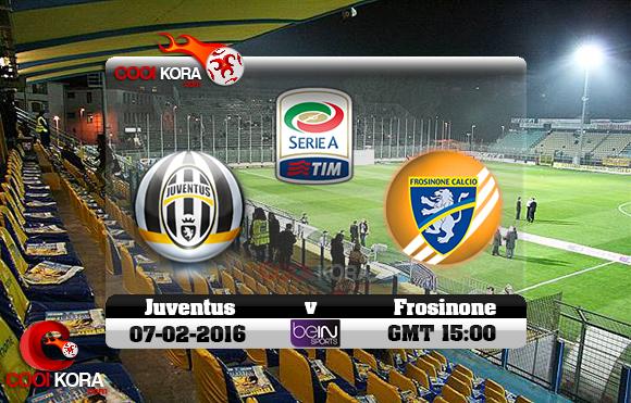 مشاهدة مباراة فروسينوني ويوفنتوس اليوم 7-2-2016 في الدوري الإيطالي