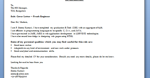 speculative cover letter