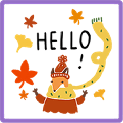 Little Foxes Autumn Stickers