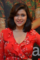 Mannara Chopra in deep neck Short red sleeveless dress Cute Beauty ~  Exclusive Celebrities Galleries 026.JPG