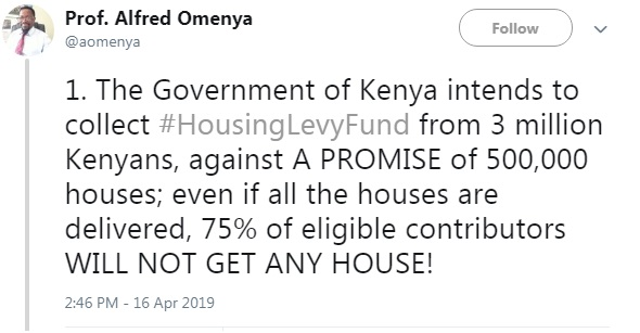 1 - Kenyan Professor breaks down the #HousingFundLevy and reveals how UHURU intends to steal from Kenyans