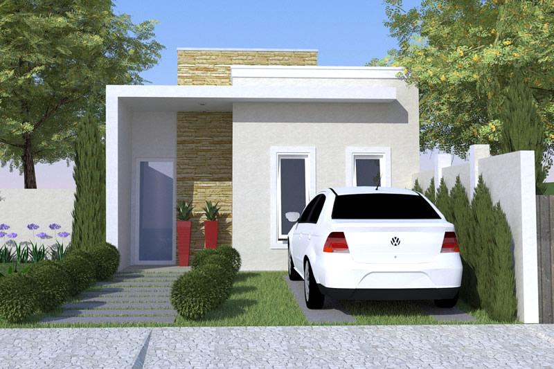 26 inspira es de fachadas de casas simples e pequenas for Ideas fachadas de casas pequenas