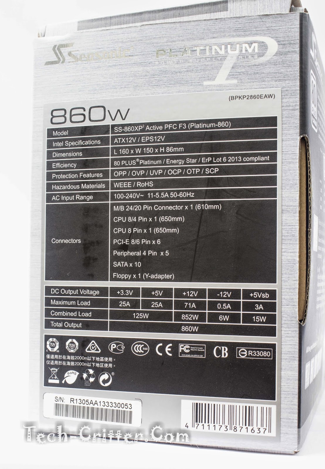 Unboxing & Overview: Seasonic Platinum Series 860W Power Supply Unit 51