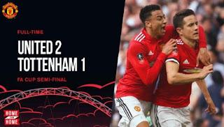 Manchester United vs Tottenham Hotspur 2-1 Highlights - Semifinal Piala FA