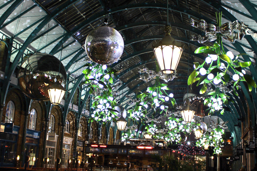 Covent Garden Market at Christmas in London - UK style blog