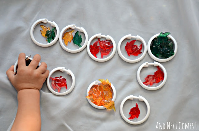 Toddler fall math activity