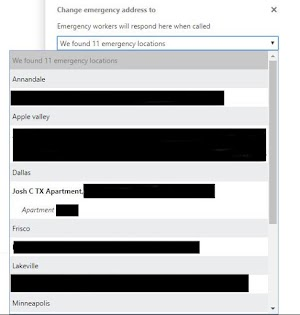 Skype for Business Online - Additional Emergency Locations in PowerShell