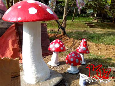 gambar Jamur dan karya seni patung jamur