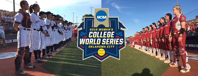 Auburn versus Oklahoma, 2016 WCWS Finals - ASA Hall of Fame Stadium, Oklahoma City